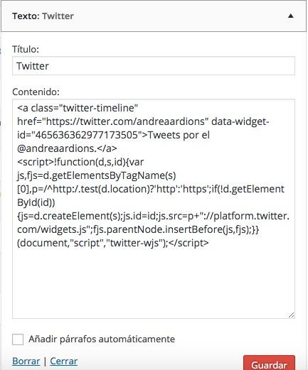 widget tweets